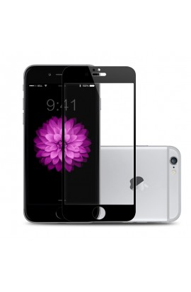 Folie sticla securizata premium full body PRO iPhone 6 / 6s tempered glass 9H 0,3 mm Benks NEGRU