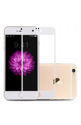 Folie sticla securizata premium full body PRO iPhone 6 / 6s tempered glass 9H 0,3 mm Benks ALB