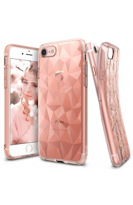 Husa iPhone 7 Ringke PRISM ROSE GOLD + BONUS folie protectie display Ringke