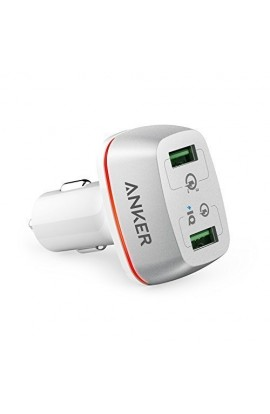 Incarcator auto 42W Anker PowerDrive+ 2 Qualcomm Quick Charge 3.0 alb