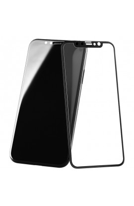 Folie sticla securizata premium full body 3D frosted iPhone X tempered glass 9H 0,23 mm Benks KR+ NEGRU
