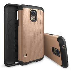 Ringke ARMOR Samsung Galaxy S5 DOT COPPER GOLD+BONUS Ringke Invisible Defender Screen Protector