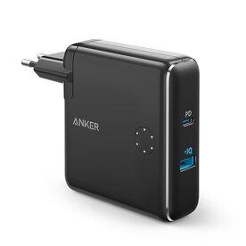 Anker PowerCore Fusion 5000 - Incarcator de retea si baterie externa 2-in-1, 42W, USB, USB-C, Power Delivery, 5000mAh, Negru