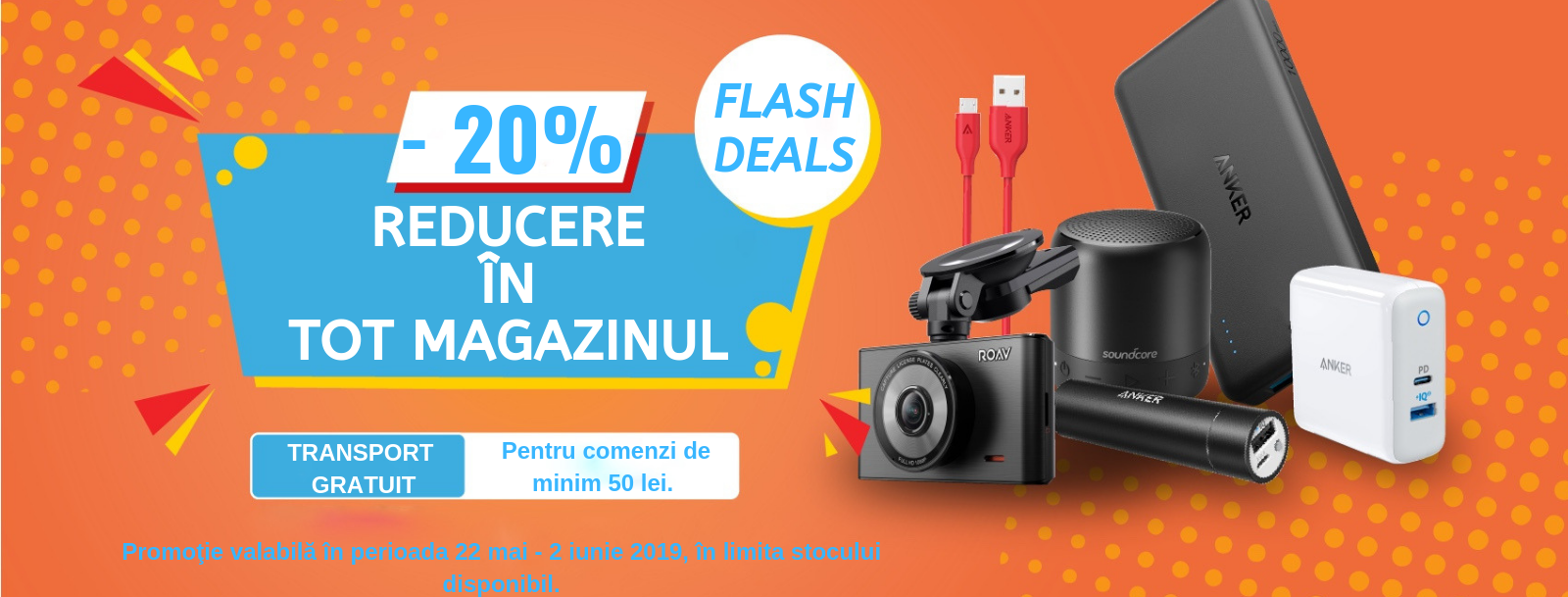 reducere 20% in tot magazinul