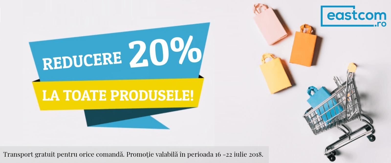 Reducere 20% la toate produsele