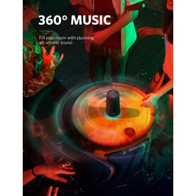 Boxa portabila wireless bluetooth Anker Soundcore Flare+ 25W 360° cu lumini LED