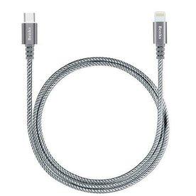 Cablu Benks USB-C Lightning 1 metru gri