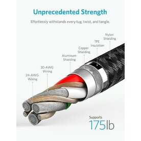 Cablu Lightning Anker PowerLine+ II 1.8 Metri