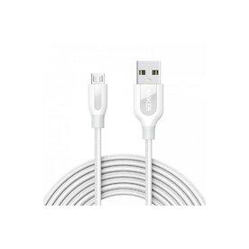 Cablu Micro USB Anker PowerLine+ Nylon 3 m alb