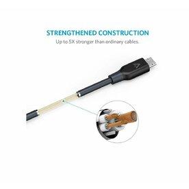 Cablu Micro USB Anker PowerLine Premium 3 m gri