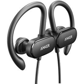Casti wireless bluetooth Anker SoundBuds Curve Negru
