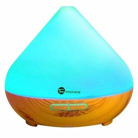 Difuzor aroma terapie Taotronics TT-AD002 cu LED 7 culori, auto oprire, light grain