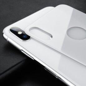 Folie premium spate iPhone X Benks XR alb