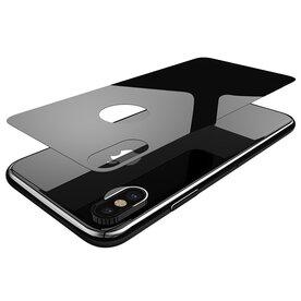 Folie premium spate iPhone X Benks XR negru