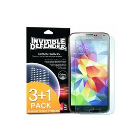 Folie protectie Samsung Galaxy S5  Ringke Invisible Screen Defender. Set 3 bucati, 2+1 GRATIS