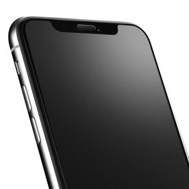 Folie sticla securizata premium full screen 3D frosted Pro iPhone X/Xs 9H 0,23 mm Benks OKR+ Negru