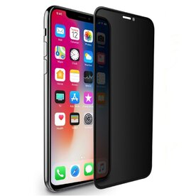 Folie sticla securizata premium full screen 3D privacy iPhone X 9H 0,23 mm Benks OKR+ NEGRU