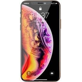 Folie sticla securizata premium full screen 3D iPhone Xs Max tempered glass 9H 0,30 mm Benks V-Pro NEGRU