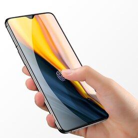 Folie sticla securizata premium full screen 3D OnePlus 7 tempered glass 9H 0,33 mm Benks V-Pro NEGRU