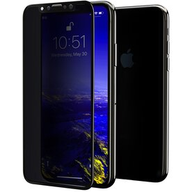 Folie sticla securizata premium full scren 3D privacy iPhone Xr 9H 0,30 mm  Benks V-Pro Negru