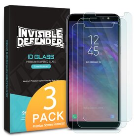 Folie sticla securizata Samsung Galaxy A6 2018 tempered glass 9H 0,33 mm Ringke ID Glass (Set 3 bucati, 2+1 GRATIS)