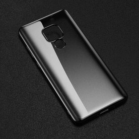 Husa Benks Huawei Mate 20 Magic Glitz Electroplated Transparent/Negru