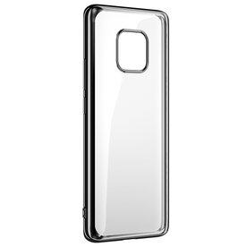 Husa Benks Huawei Mate 20 Pro Magic Glitz Electroplated Transparent/Negru