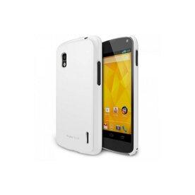 Husa Google Nexus 4 Ringke SLIM LF WHITE+BONUS folie protectie display Ringke