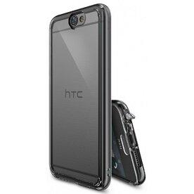 Husa HTC One A9 Ringke FUSION SMOKE BLACK + BONUS folie protectie display