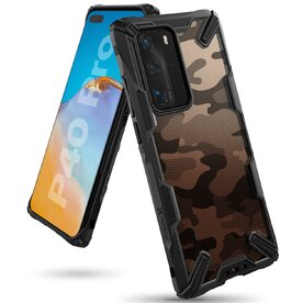 Husa Huawei P40 Pro Ringke FUSION X Design Negru Camuflaj