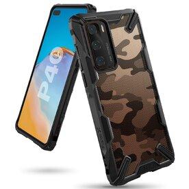 Husa Huawei P40 Ringke FUSION X Design Negru Camuflaj