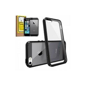 Husa iPhone 5/5s iPhone SE Ringke FUSION NEGRU +BONUS folie protectie display Ringke