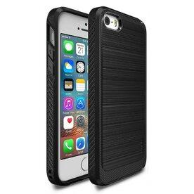 Husa iPhone 5/5s/SE Ringke ONYX BLACK + folie Ringke cadou