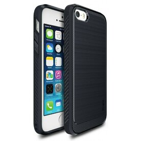 Husa iPhone 5/5s/SE Ringke ONYX MIDNIGHT NAVY + folie Ringke cadou