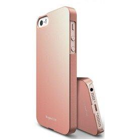 Husa iPhone 5/5s/SE Ringke Slim ROSE GOLD + folie Ringke cadou