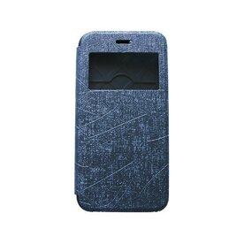 Husa iPhone 6 / iPhone 6s Arium Bumper Flip View gri - albastru