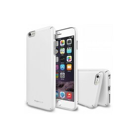 Husa iPhone 6 Plus Ringke SLIM ALB+BONUS Ringke Invisible Defender Screen Protector