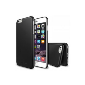 Husa iPhone 6 Plus Ringke SLIM NEGRU+BONUS Ringke Invisible Defender Screen Protector
