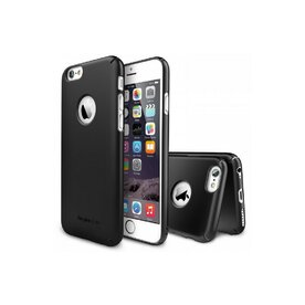 Husa iPhone 6 Ringke SLIM BLACK LOGO CUT+BONUS folie protectie display Ringke