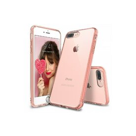 Husa iPhone 7 Plus / iPhone 8 Plus Ringke FUSION ROSE GOLD + BONUS folie protectie display Ringke