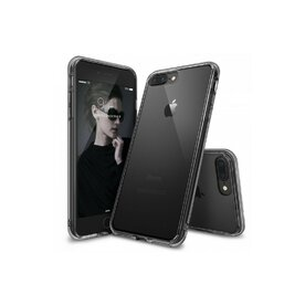 Husa iPhone 7 Plus / iPhone 8 Plus Ringke FUSION SMOKE BLACK + BONUS folie protectie display Ringke