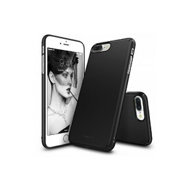 Husa iPhone 7 Plus / iPhone 8 Plus Ringke Slim BLACK + BONUS folie protectie display Ringke
