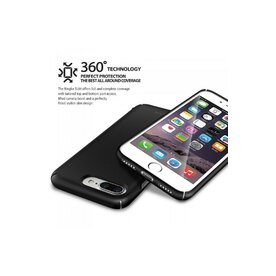 Husa iPhone 7 Plus / iPhone 8 Plus Ringke Slim BLACK + BONUS folie protectie display Ringke