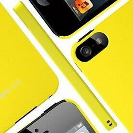 Husa iPhone 5/5s/SE Ringke Slim SF Yellow Logo Cut+BONUS folie protectie display