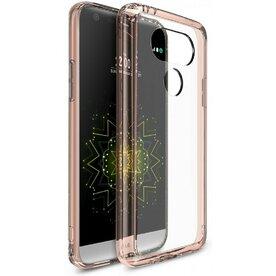 Husa LG G5 Ringke FUSION ROSE GOLD + BONUS folie protectie display Ringke