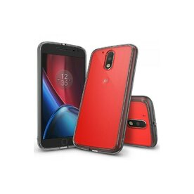 Husa Moto G4 / G4 Plus 2016 Ringke FUSION SMOKE BLACK + bonus folie Ringke Invisible Screen Defender