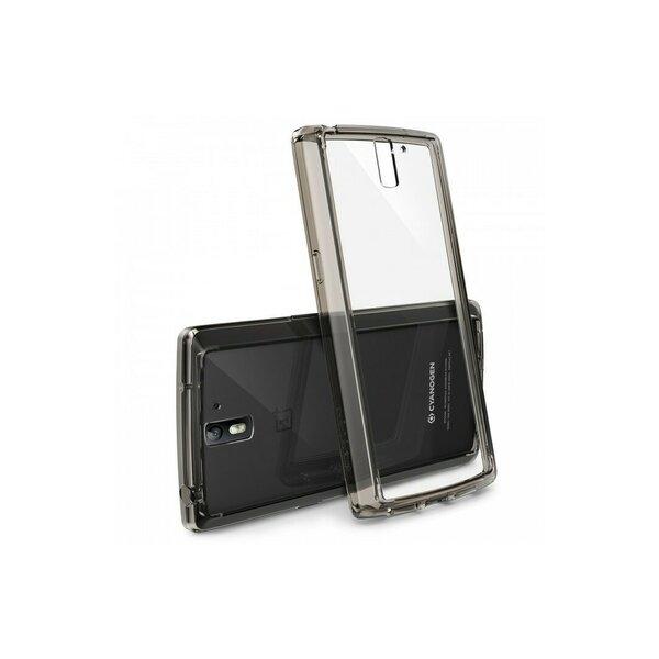 Husa OnePlus One Ringke FUSION SMOKE BLACK+BONUS folie protectie display Ringke
