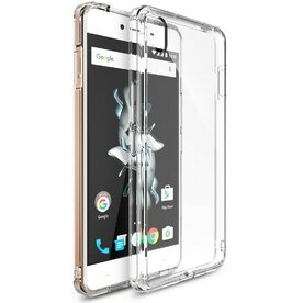 Husa OnePlus X Ringke FUSION CRYSTAL VIEW TRANSPARENT + BONUS folie protectie display