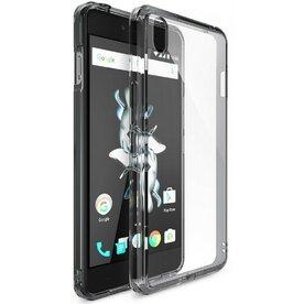 Husa OnePlus X Ringke FUSION SMOKE BLACK + BONUS folie protectie display
