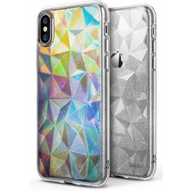 Husa Ringke iPhone X Prism Glitter Clear